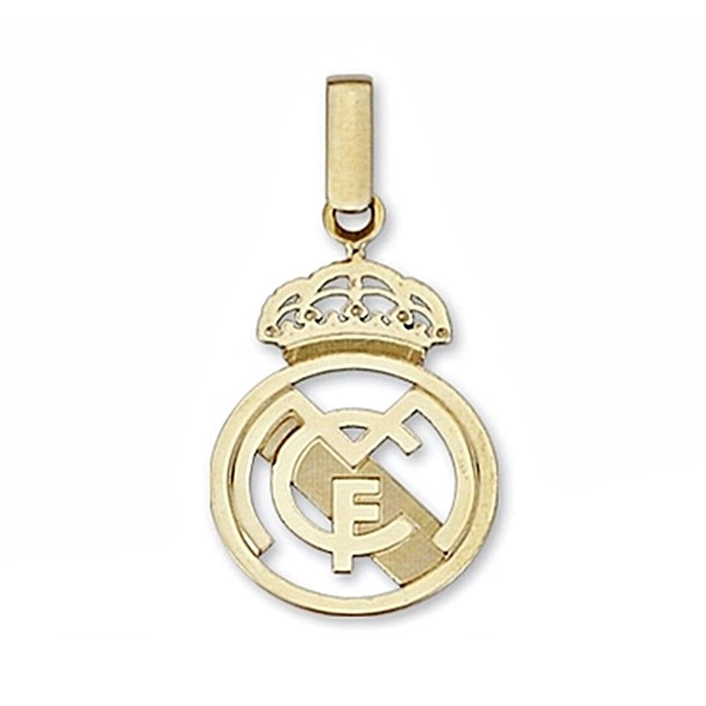 Colgante escudo Real Madrid oro de ley k mediano calado Modelo: