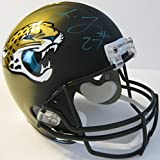 Leonard Fournette, Jacksonville Jaguars, Signed, Autographed, Full Size Football Helmet, a COA with the Proof Photo of Leonard Signing Will Be Included