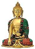 Redbag God Gautam Buddha Brass Statue Sitting Position