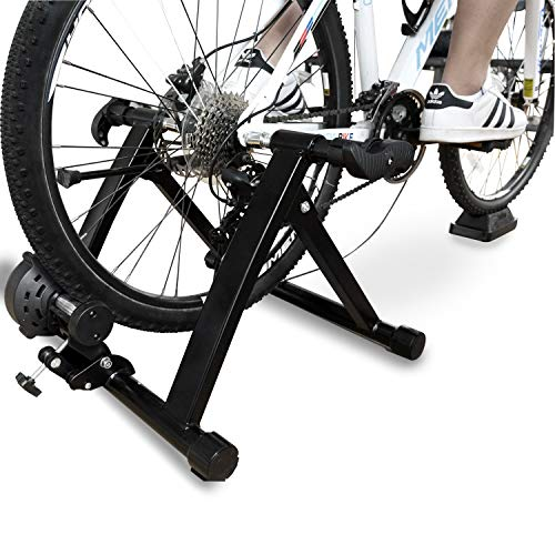 BalanceFrom Bike Trainer Stand Steel Bicycle Exercise Magnetic Stand with Front Wheel Riser Block (Trainer Bike)