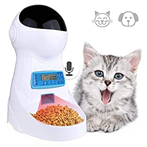 Currens Automatic Cat Feeder Pet Food Dispenser for Cats Dogs, Timed Auto Dog Feeder with Portion Control, Voice Recorder up to 4 Meals per Day 32