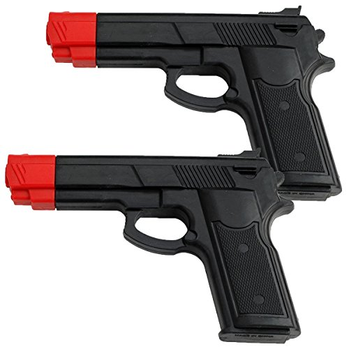 (BladesUSA Rubber Training Gun Black and Red Head Painting (2 Pack))