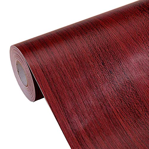 Textured Faux Wood Grain Contact Paper Self Adhesive Shelf Liner for Kitchen Cabinets Shelves Countertop Table Arts Crafts Decal 17.7x196 Inches