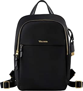 Laptop Backpack Purse for Women Business Travel Rucksack Waterproof School Bag (14 inches with Sleeve, Black)