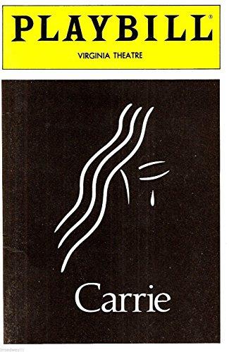 "Betty Buckley""CARRIE"" Linzi Hateley/Stephen King 1988 Broadway Musical FLOP Playbill"