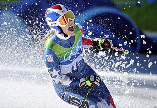 Lindsey Vonn Sports Poster Photo Limited Print Celebrity USA Olympic Alpine Skiing Athlete Size 8x10 - Lindsey Print