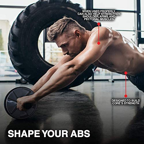 Ab Roller Wheel - Abs Workout Equipment - Ab Roller - Ab Wheel Roller for Core Workout - Exercise Equipment for Home Gym 2