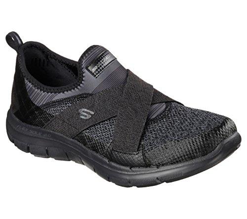 Skechers Flex Appeal 2.0 New Image Womens Slip On Sneakers Black 9 W