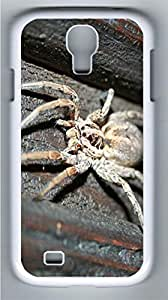 Large Spider Animal Polycarbonate Hard Case Cover for Samsung Galaxy S4 I9500¨C White