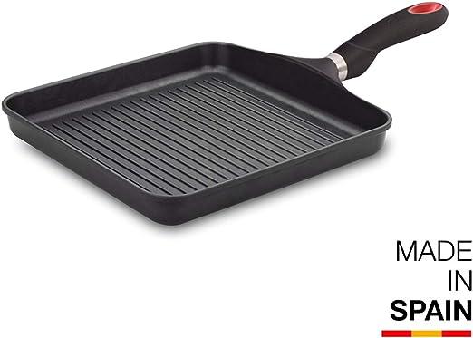 Valira Black - Grill Premium de 28x28 cm hecho en España, aluminio ...