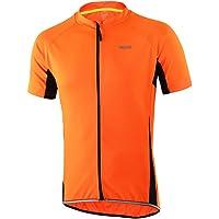 ARSUXEO Slim Fit ciclismo Jersey, camiseta de manga corta de bici/bicicletas para los hombres EEUU XL naranja