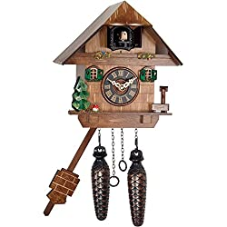 Alexander Taron Importer 417Q Battery Cuckoo Clock Uses 2 C Batteries (Not included). Cuckoo Comes Out
