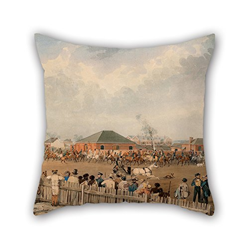 - 20 X 20 Inches / 50 By 50 Cm Oil Painting S. T. Gill - Sturt's Overland Expedition Leaving Adelaide, 10th August, 1844 Pillow Covers,two Sides Is Fit For Husband,christmas,saloon,lounge,couples,bench