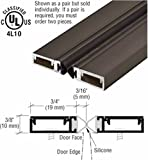 Pemko 84'' Split Astragal with Silicone Bulb Seal Bronze Anodized