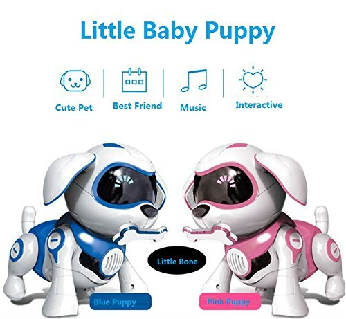 Yeezee Wirless Robot Puppy, Interactive Little Baby Pup with Magent Bone, Walking Talking Remote Control Dog, Robot Pet for Kids/Boys/Girls (BB-1) by Yeezee (Image #3)