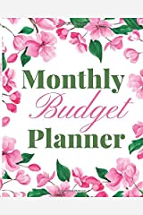 Monthly Budget Planner: Simple Beautiful Color Monthly Budget Planner and Check-in (Cherry Blossom Collection) Paperback