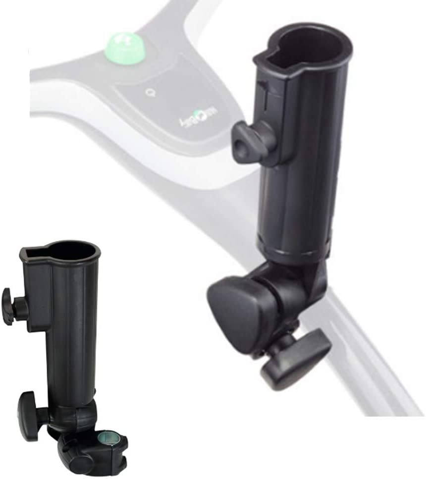 QIYAT Golf Cart Umbrella Holder, Universal Adjustable Umbrella Amount Mounting Attachment for Golf Push Cart Accessories