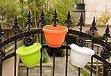 SunnyCZ 1Pcs Colorful Hanging Planter Downspout Drain Pipe Flower Pot Garden Decor Plastic Flowerpot Random Colors