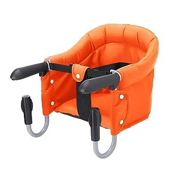 Vertvie Siege De Table Bebe Chaise Haute Pliant Accessoire Pour Enfants Avec Sangles Portable Pliable