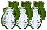 Image of MoldFun 3 Piece 3D Grenade Ice Cube Mold, Life Size Hand Grenade Whisky Ice Ball Tray Maker, A Great Gift For Men, Military Fan