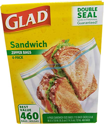 Glad Sandwich Bags (4 Pack / 115 Count Net Count 460), 460 Count