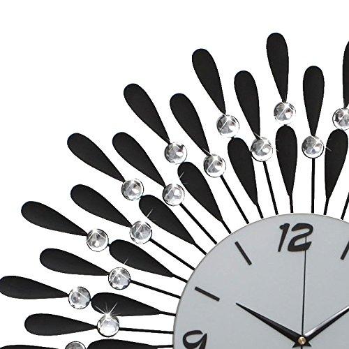Amazon.com: Silent wallclock dustproof Glass Cover Roman Numeral Sala de Estar de Estilo coreano Oscuro moderno europeo reloj de cuarzo sala de Estar con ...