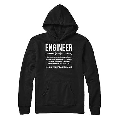 Engineer Job Definition Funny Humor Birthday Gift for Engineer Men Women Hanes - Heavyweight Pullover Hoodie