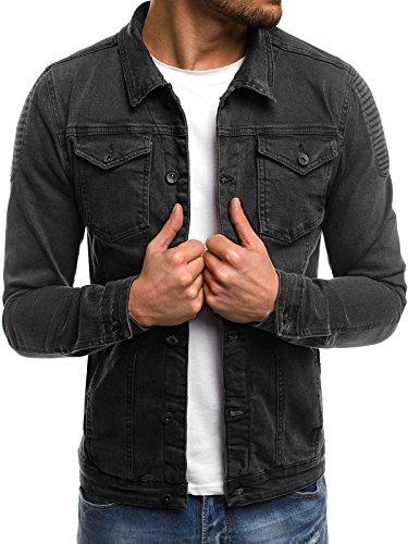 Gris Ozonee Para Jacket 3056 Hombres Cuero Mix Invierno Chaqueta Tw7RnxR