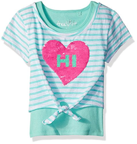Price comparison product image Freestyle Revolution Little Girls' Smile Sequence 2 Tops Sets, Gelato, 5