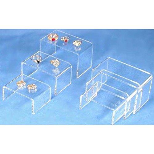 Jewelry New Showcase Display Acrylic (FindingKing 6 Clear Acrylic Jewelry Display Risers Showcase Fixtures)