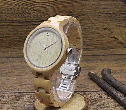 orologio femminile femminile femminile in legno, realizzato in legno di sandalo con Luxury Edition serie di orologi di legno può inciso testo personale orologio, bianca | Trendy  | Imballaggio elegante e stabile  | moderno  | Eccezionale  | Ordini Sono Benvenuti  84563a