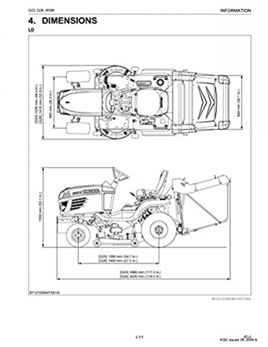 Kubota Model T1400h Lawn Tractor Genuine Parts