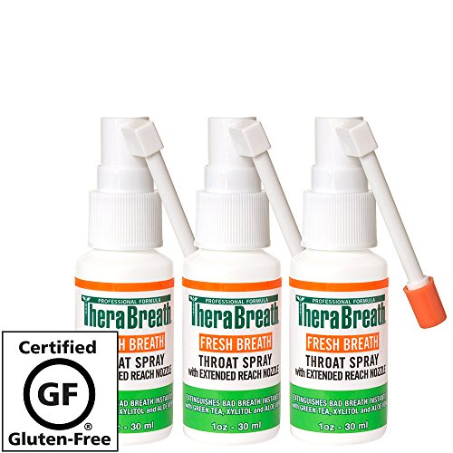 TheraBreath Fresh Breath Spray – Dentist Formulated – Maximum-Strength - Extinguisher Spray – Stops Halitosis – Certified Gluten-Free – Approved for Diabetics – 1 Ounce – Three-Pack by TheraBreath (Image #6)