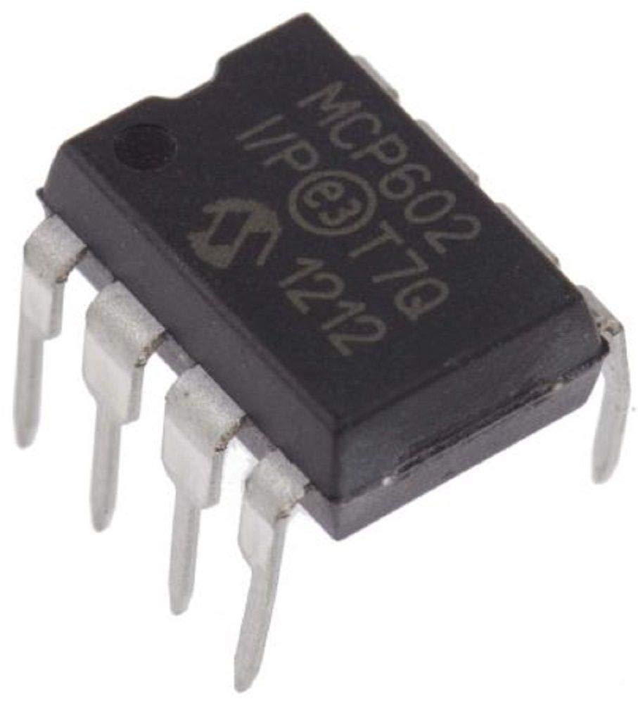 MICROCHIP MCP602-I/P MCP602 Single Supply Dual CMOS Operational Amps (Pack of 5)
