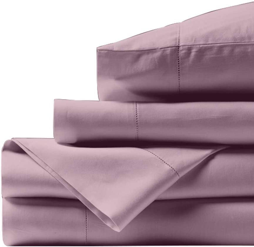 Bishop Cotton 100% Egyptian Cotton Queen Size Bed Sheets 800 Thread Count Blush 4 Piece Luxury Hotel Quality Sheet Set Italian Finish Premium Sheets Long Staple Fits Up to 16 Inch Deep Pocket