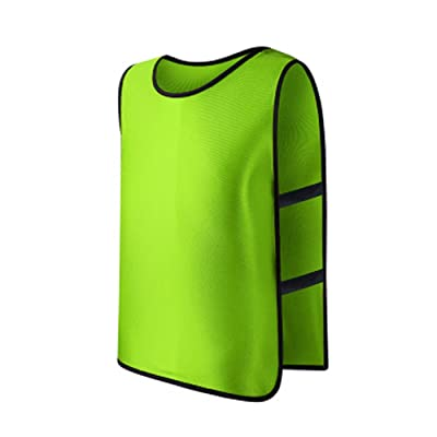 Feamos Sports Training Vest Pinnies for Soccer Football Adults