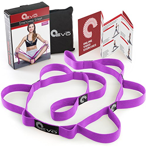 Stretching Strap with 10 Elastic Loops + eBook & 35