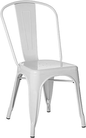 Image ofSKLUM Pack 4 Sillas LIX Blanco Estilo Industrial Acabado Brillante