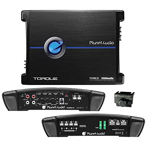Planet Audio TR3000.1D Class D Car Amplifier - 3000 Watts, 1 Ohm Stable, Digital, Monoblock, Mosfet Power Supply, Great for Subwoofers by BOSS Audio Systems