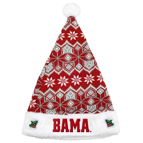 Alabama Crimson Tide Knit Santa Hat - 2015 (Alabama Crimson Tide Santa)