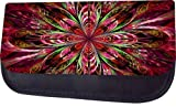 Stained Glass Style Flower Print Design TM Pencil Case Made in the U.S.A.