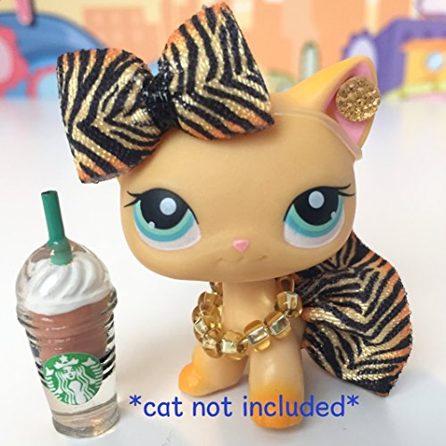 Littlest Pet Shop LPS Clothes Accessories Starbucks Skirt Bow Outfit Lot CAT NOT INCLUDED