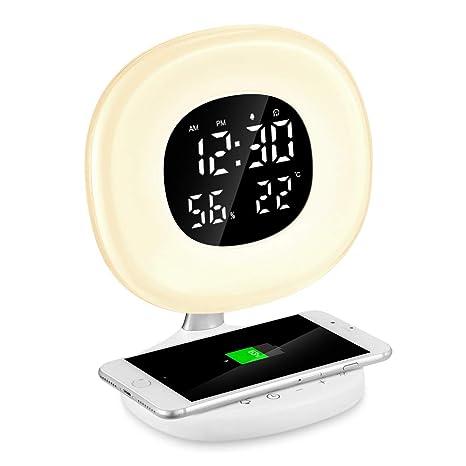Reloj Despertador Digital de Luz, PAVLIT Despertador Luz con ...