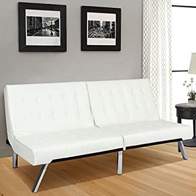 Best Choice Products Modern Futon Sofa Bed Fold Up & Down Couch Recliner Lounger Sleeper Furniture