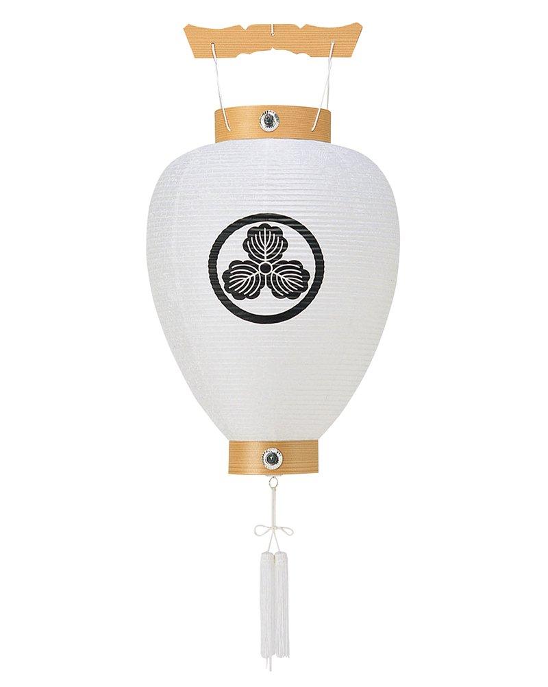 盆提灯 壺型 紋入 相極 ビニロン紋天 電池式LED ビニロン紙製 家紋入れ代込み h308-ymt-5008-led1584 B010CQL262