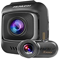 Papago GoSafe S780 1080p Full HD 60 FPS 2 Channel Dash Cam with Sony Starvis Image Sensor Ultra Wide Angle and 16GB Micro SD Card