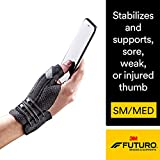 Futuro Deluxe Thumb Stabilizer, Improves Stability, Moderate Stabilizing Support, Small/Medium, Black
