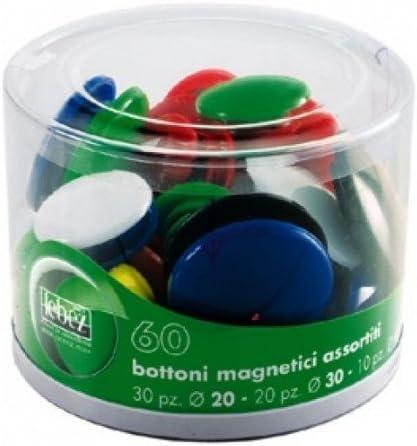 Lebez 2777 Bottoni Magnetici Confezione 60