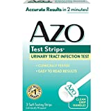 AZO Test Strips - Urinary Tract Infection Test - Accurate Results in 2 Minutes - Clinically Tested - Easy To Read Results - 3 Individually Wrapped Self Testing Strips