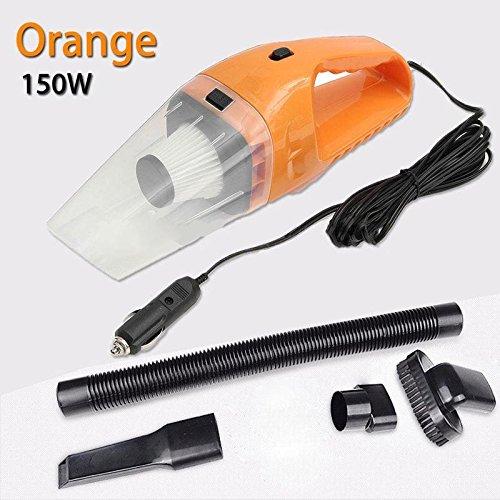 WXLAA Handheld Vacuum Dirt Cleaner Car Vacuum Portable 12V 120W Dry 4 In 1 Tool Orange